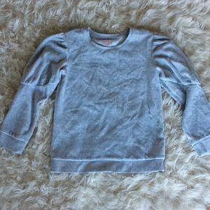 5/$25 cat & jack gray velour pullover sweatshirt M